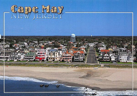 PCNJ010 Set 50 X Postcards 4X6 New Jersey Cape May Aerial seashore