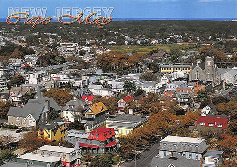 PCNJ012 Set 50 X Postcards 4X6 New Jersey Cape May Aerial houses