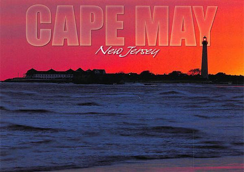 PCNJ015 Set 50 X Postcards 4X6 New Jersey Cape May Sunset