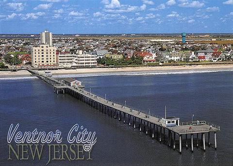 PCNJ021 Set 50 X Postcards 4X6 New Jersey Ventnor City Pier