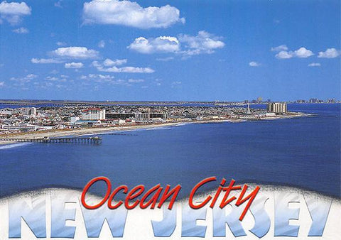 PCNJ023 Set 50 X Postcards 4X6 New Jersey Ocean City wave