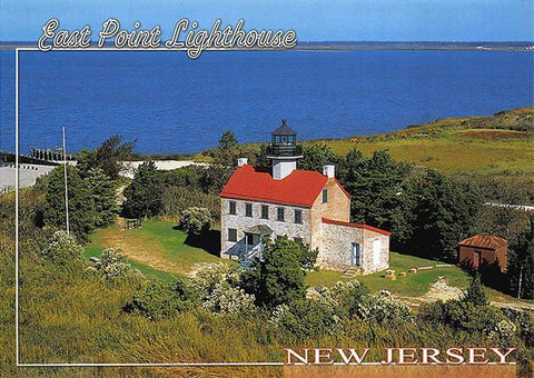 PCNJ031 Set 50 X Postcards 4X6 New Jersey East Point Lighthouse