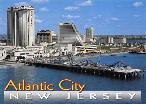 PCNJ041 Set 50 X Postcards 4X6 New Jersey Atlantic City rides