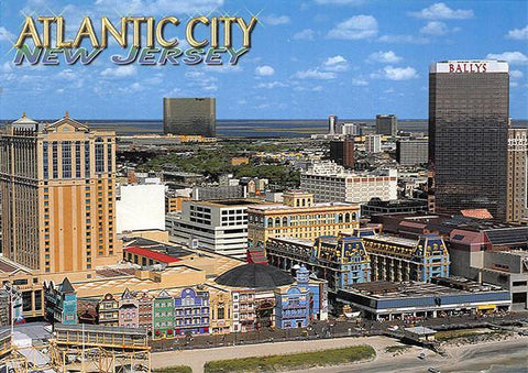 PCNJ042 Set 50 X Postcards 4X6 New Jersey Atlantic City Aerial sparkle