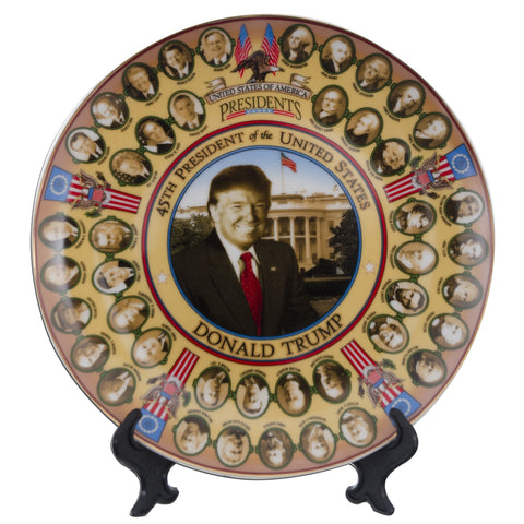 PLUS1 Plate 8 inch Presidents of the United States