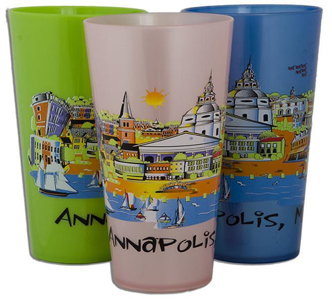 PMAM1 Plastic Cup Annapolis Cartoon Asst Colors