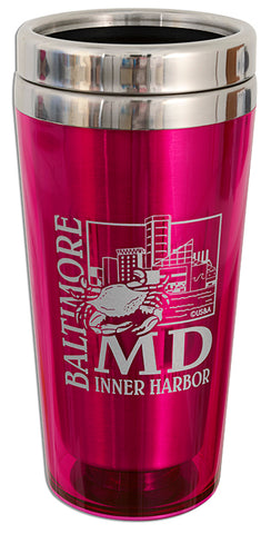 PMBM4 Insulated Stainless Steel Mug - Baltimore PINK