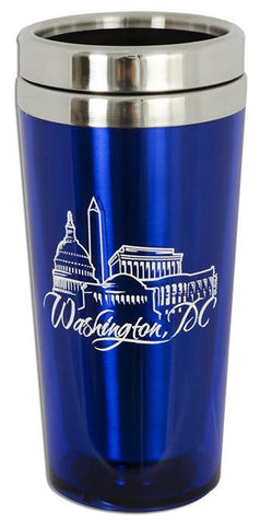 PMDC03B Insulated Stainless Steel Mug - Washington, DC BLUE
