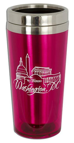 PMDC03P Insulated Stainless Steel Mug - Washington, DC HOT PINK