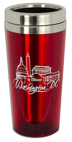 PMDC03R Insulated Stainless Steel Mug - Washington, DC RED