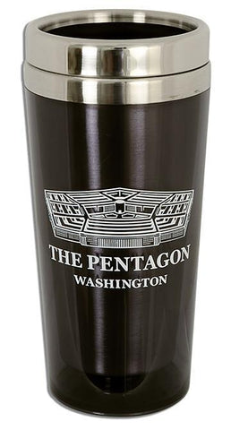 PMDC05 Insulated Stainless Steel Mug - Washington, DC Pentagon BLACK