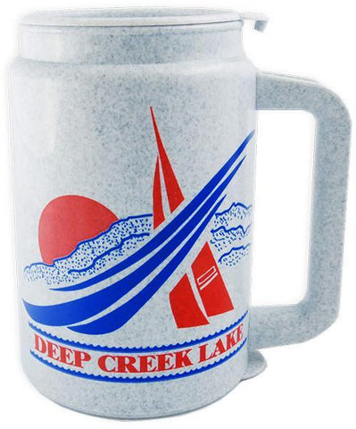PMDL1 Insulated Mug Granite Deep Creek Lake