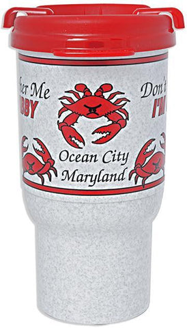 PMOC1 Insulated Car Mug I'm Crabby Ocean City