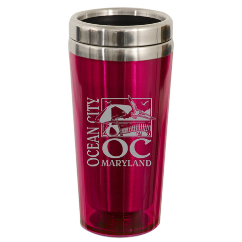 PMOC4 Insulated Stainless Mug - Ocean City PINK