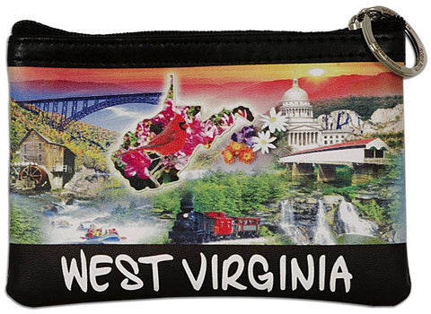PUWV01 Robin Ruth Small Rectangle Purse West Virginia Photo Montage HD