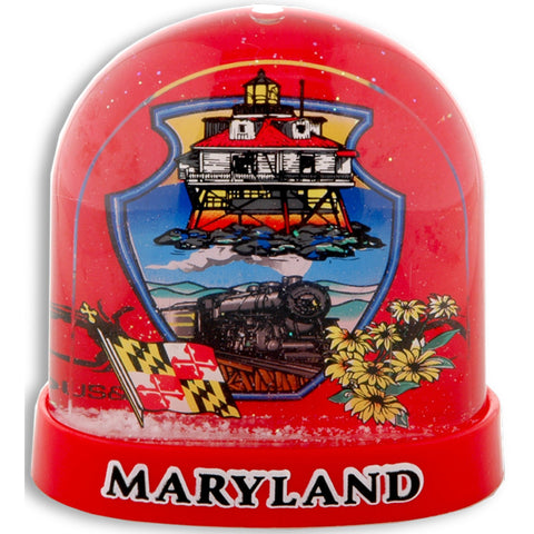 SNMD3 Snow Globe Tall Red Maryland