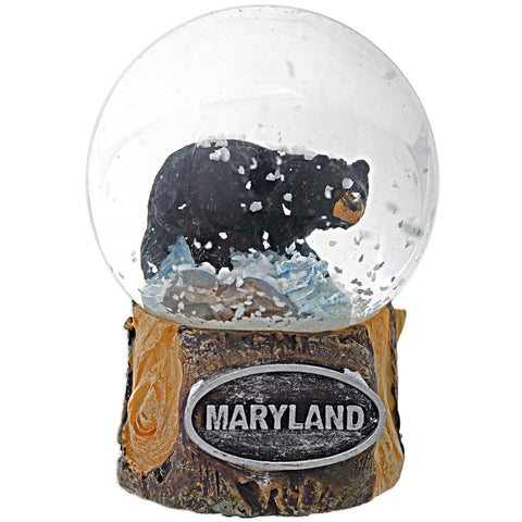 SNMD6 Water Globe 45mm Glass Bear Maryland