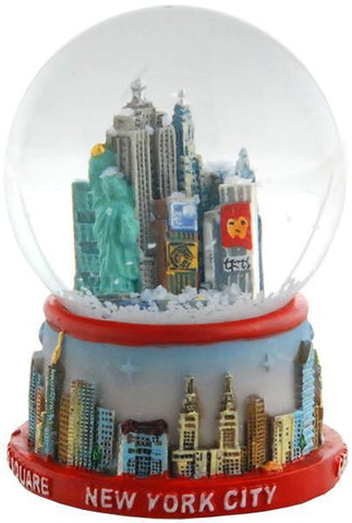 SNNY15 Water Globe 45mm Glass New York red