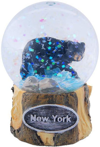 SNNY16 Water Globe 45mm Glass Bear with New York