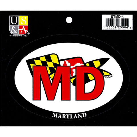 STMD4 Euro Oval Sticker MD with Flag Banner