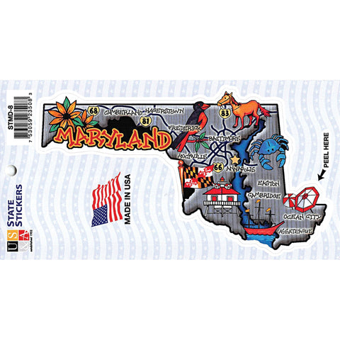 STMD8 Map Sticker Maryland