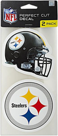 STST6 Decal Perfect Cut 2Pack Pittsburgh Steelers