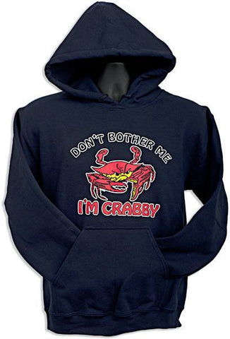 SWCR01N HOODED SWEATSHIRT Don't Bother Me I'm Crabby NAVY