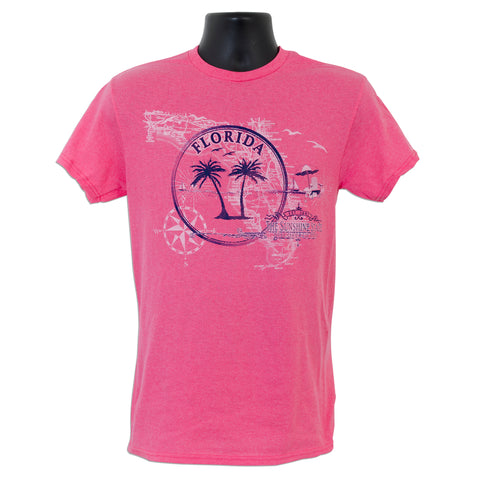 TSFL05H T-Shirt - Florida Circle/Map HELICONIA HEATHER