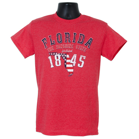 TSFL07H T-Shirt - Florida Established Arch HEATHER RED