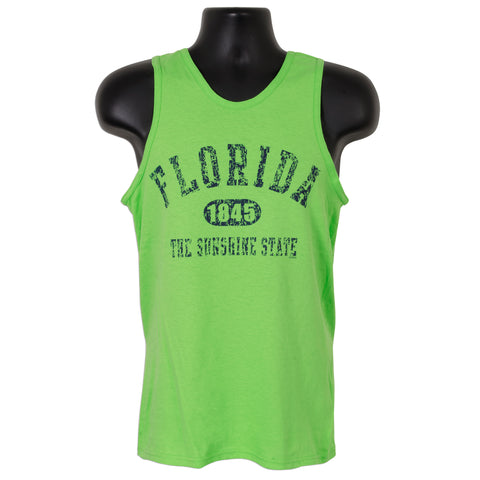 TSFL09L Tank Top - Florida Distressed LIME