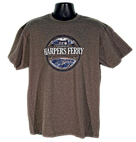 TSHF03B T-Shirt Harpers Ferry Circle Brown Heather