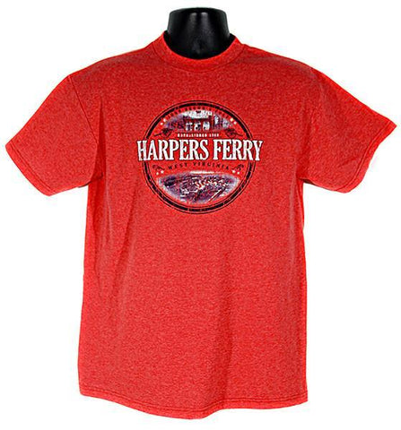 TSHF03R T-Shirt Harpers Ferry Circle Red Heather