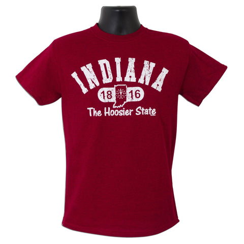 TSIN01C T-Shirt Indiana Distressed ANTIQUE CHERRY