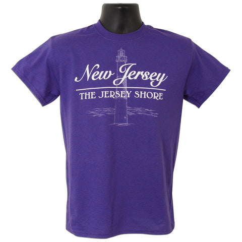 TSNJ01L T-Shirt New Jersey Lighthouse LILAC
