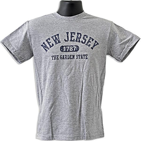 TSNJ04G T-Shirt New Jersey Distressed 1787 ANTHRACITE GREY
