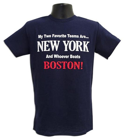TSNY11N T-Shirt New York My 2 Favorite Teams NAVY