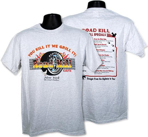 TSNY15A T-Shirt Road Kill Cafe 2-Side NEW YORK Black