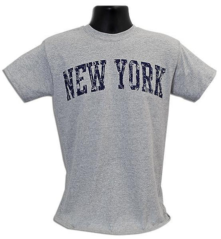 TSNY16G T-Shirt - New York Arch Distress SPORT GREY
