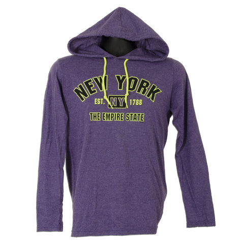 TSNY19P Long-Sleeve Hooded T - New York PURPLE HEATHER