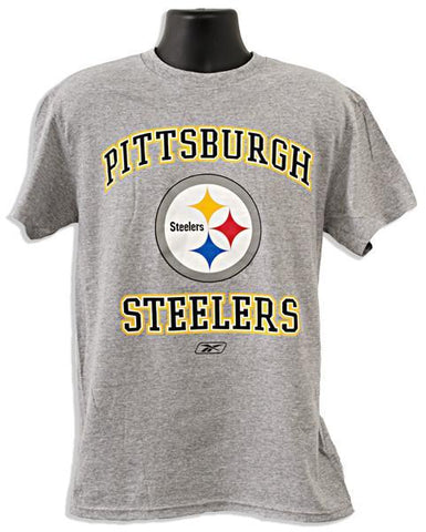 TSST01G T-Shirt - Steelers Logo GREY HEATHER