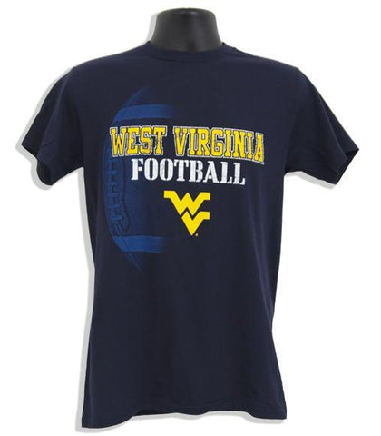 TSWU02N T-Shirt WVU Football PIGSKIN - NAVY