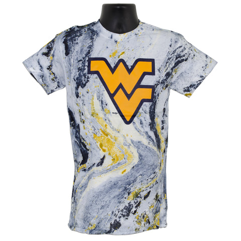 TSWU12M Marble Tie Dye / Navy Gold White with Flying WV