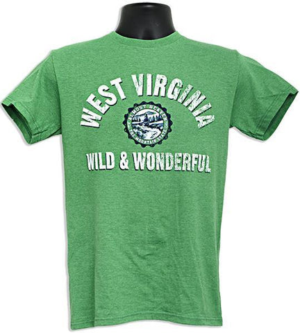 TSWV01K T-Shirt West Virginia Collegiate KELLY HEATHER