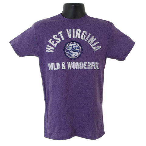TSWV01P T-Shirt West Virginia Collegiate PURPLE HEATHER