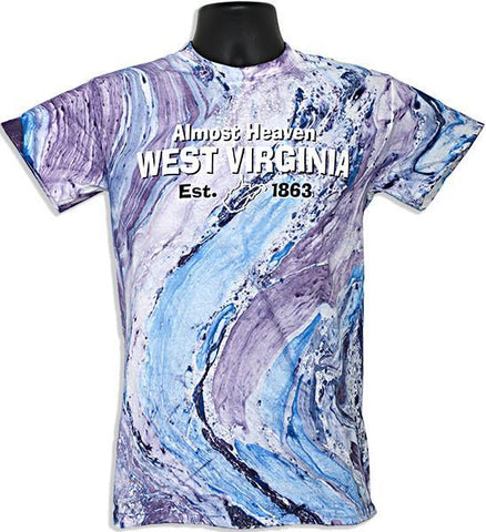 TSWV11M Marble T-Shirt West Virginia Purple