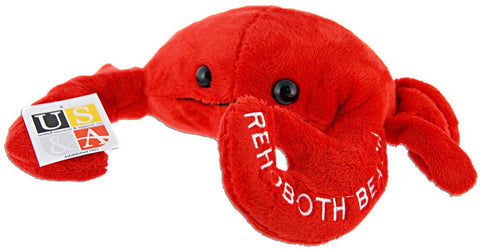 TYRB3 Plush Crab Large RED Rehoboth Beach