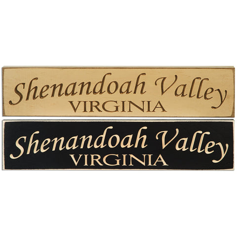 WSVA2 Wood Sign Carved Shenandoah Valley Virginia