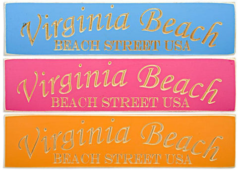 WSVB1 Wood Sign Carved Virginia Beach Beach Street USA