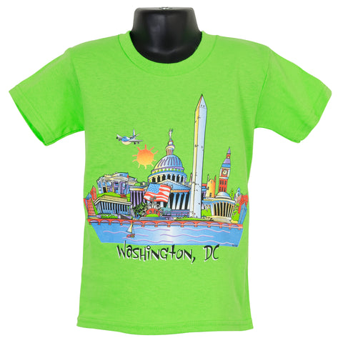 YTDC01L Youth T DC Cartoon-scape LIME