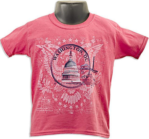 YTDC03C Youth T DC Circle CORAL Coral Silk